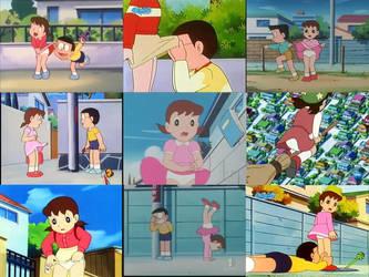 Shizuka Minamoto panty collage ver 2 by cartoonsbest