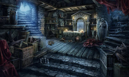 Worship Cellar scene by Tai-atari