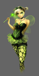 Green fairy costume by Tai-atari