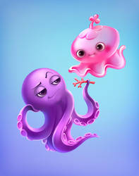 Jelly fish by Tai-atari