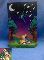 MLP: FiM:  'Flutterdash' custom blindbag clock! by vulpinedesigns