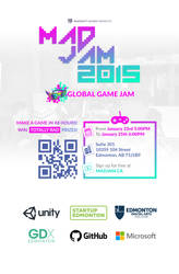 MADJAM 2015: Global Game Jam Poster by AndrewDavidJ