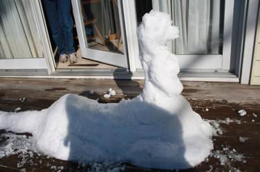 Snow CatTaur by panhellsing66