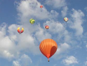 Balloons in Sky 5 by ShadowedStock