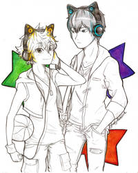 Kagehina - Axent Wear Headphones by Laven96
