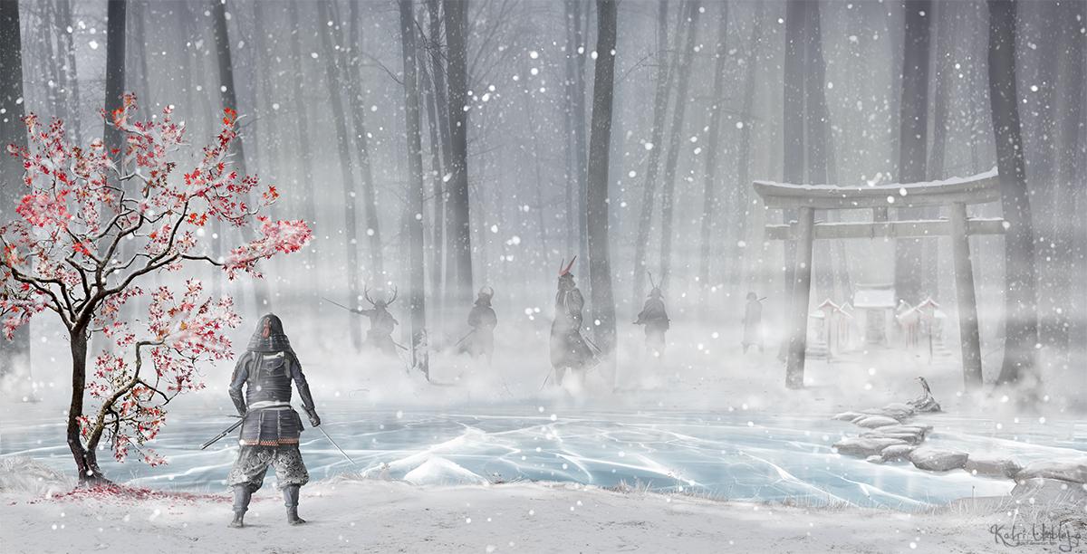 Ambush at the Shrine by Iardacil
