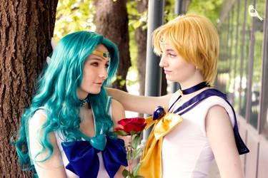 Neptune and Uranus by AnnieChie