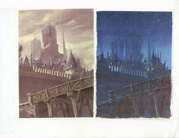 Day and Night Notre-Dame by kimimaro-21