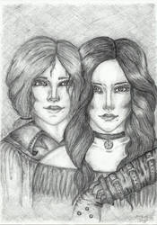 Triss and Yennefer by Jillienne