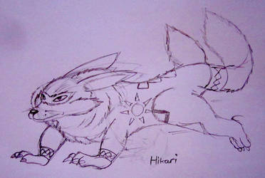 Hikari The Twin Tailed Creature. by Artooinst
