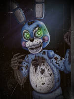 Nightmare Toy Bonnie by TangledMangle