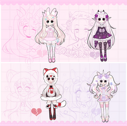 LOWERED+Pastel Girl Adopts [ OPEN ] (1/4) + by Hunibi
