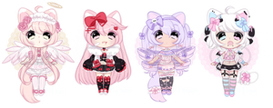 lowered+ Pink kitty adopts [ OPEN ] (3/4)+ by Hunibi