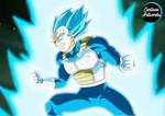 VEGETA BLUE by CartoonArtworks