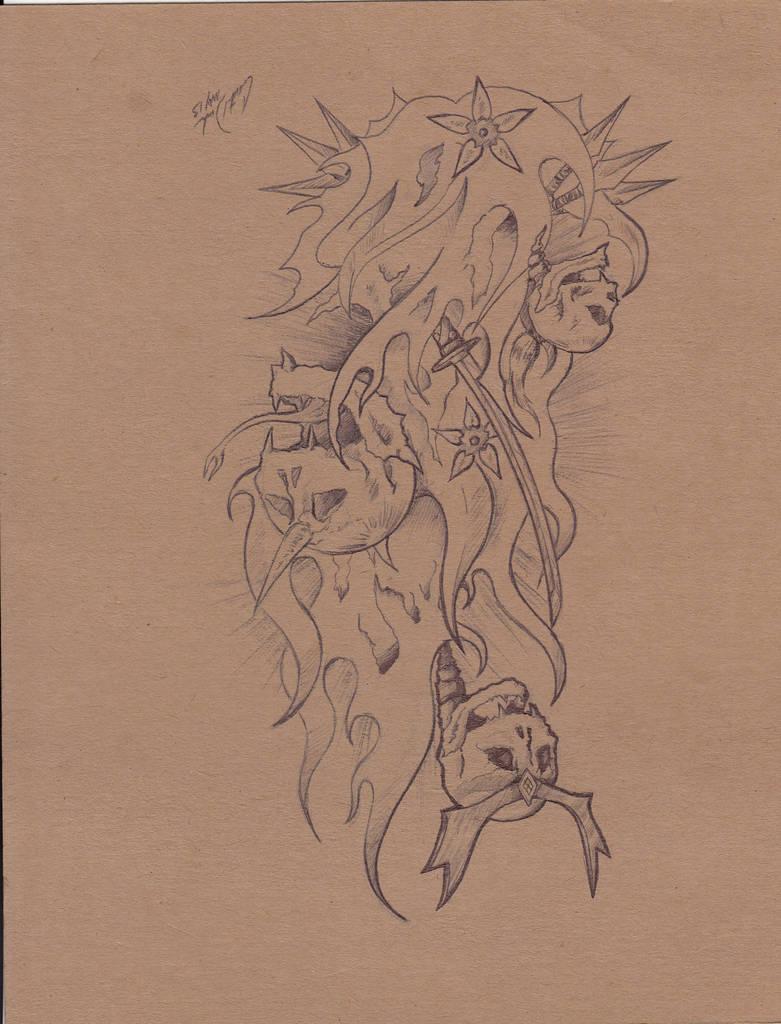Samurai Skull Tattoo By Zelanos On Deviantart