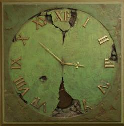 The Clock VI   110x110x6 cm by Yaro42