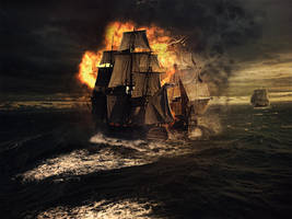 Sea Battle by FictionChick