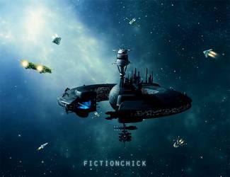 Space Station by FictionChick
