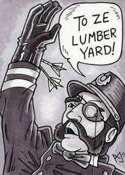 Sketch Card: Inspector Kemp by AtlantaJones