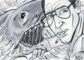 Jaws Sketch Card by AtlantaJones