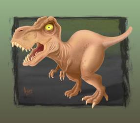 Tyrannosaurus Rex Digital Painting by AtlantaJones