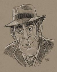 Abe Vigoda Caricature by AtlantaJones