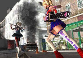 Harley Quinn vs Juliet Starling by Dante-564