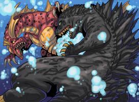 Godzilla Vs Titanosaurus by KaijuDuke