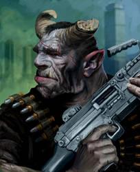 shadowrun troll by Perun-Tworek