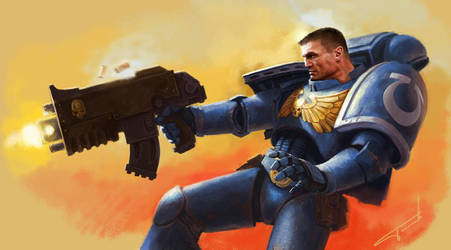 space marines fan art by Perun-Tworek