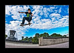 Jumping the high Ollie by OrisTheDog