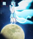 Seraph On Moon by lizardseraphim