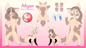 Megan Reference Sheet 2018 by qhostblue