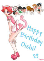 Happy B-day to Oishi by once-in-a-blue-moon