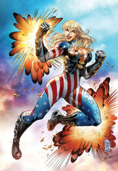 Patriotika Pin up Color Candice by CandiceHan