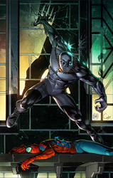 Marvel Cover Colors Sample of Black Panther by CandiceHan