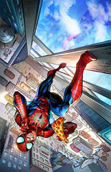 Color Sample of The Spectacular Spider-Man #3 by CandiceHan