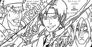 Evil Ryu vs Kusanagi Demon vs Evil Jin  by camposleonardo059