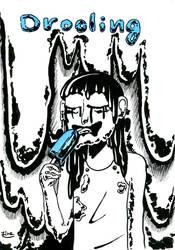 Inktober2018 Drooling by Rinzeki