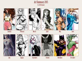 2015 Art Summary by SLMGregory