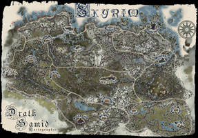 Drath Samid's map of Skyrim. by SamOfSuthSax