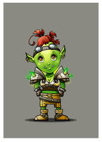 chibi orc. wow by mart-art