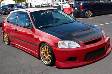 Honda Civic Red. by RikaDesigner