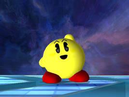 Pacman Kirby by nintenerd