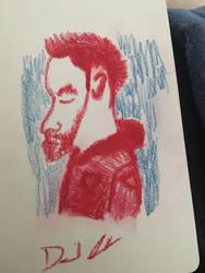 Doodling dude  by Davidord27027