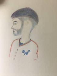 Bryce Harper with colorful hair  by Davidord27027