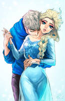 Elsa.. You smell nice. by Ebiko-chan