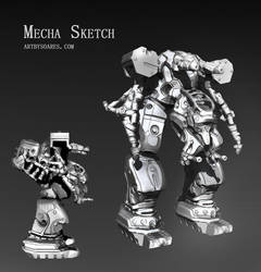 Mecha Sketch by sergiosoares