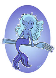 Water Fairy Fork by theamazingkitkatt