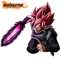 Black Goku Super Saiyan Rose by GhoulFire